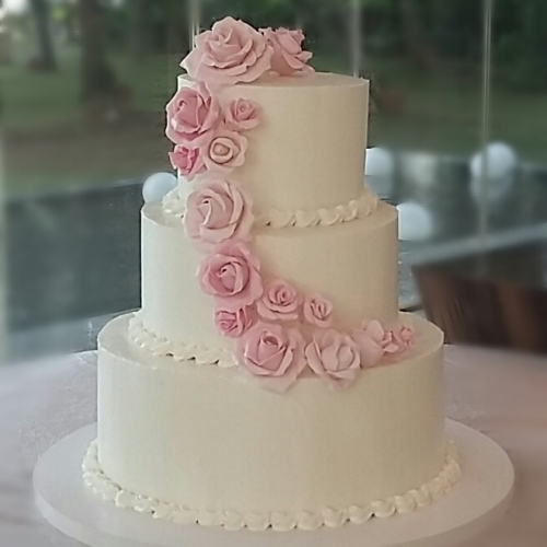 Levanna cake special custom made cake bali wedding cake sweet pink roses mightylinksfo